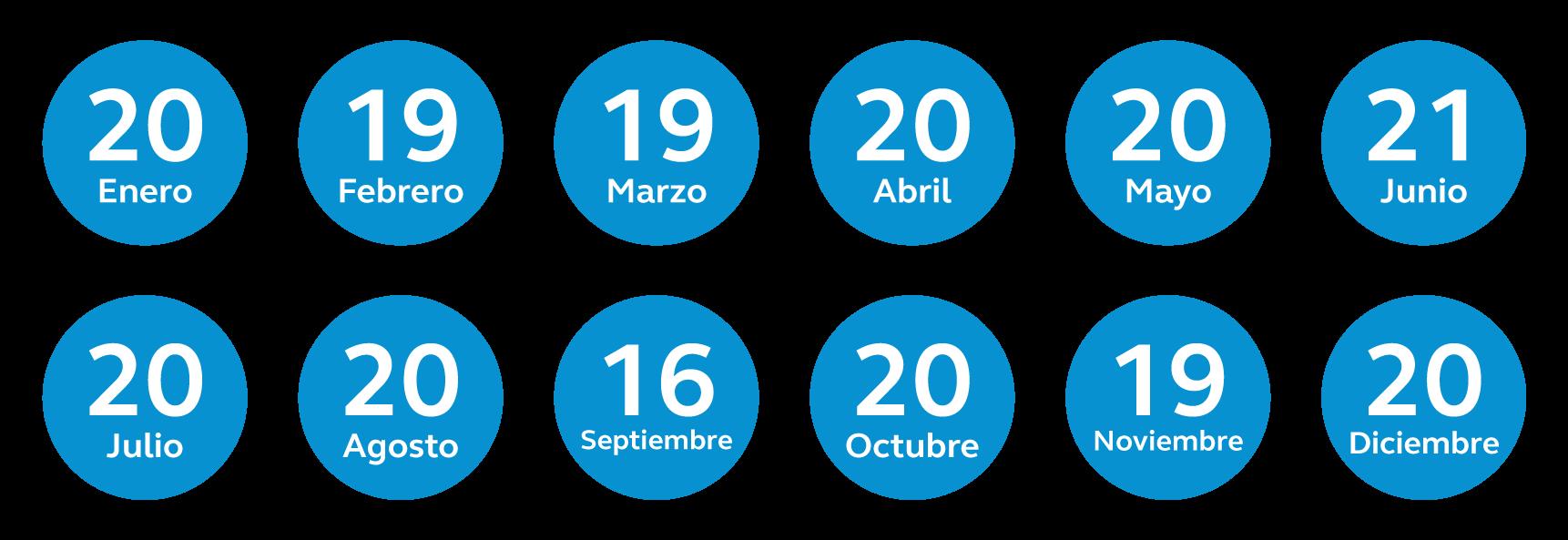 calendario de pago de pensiones