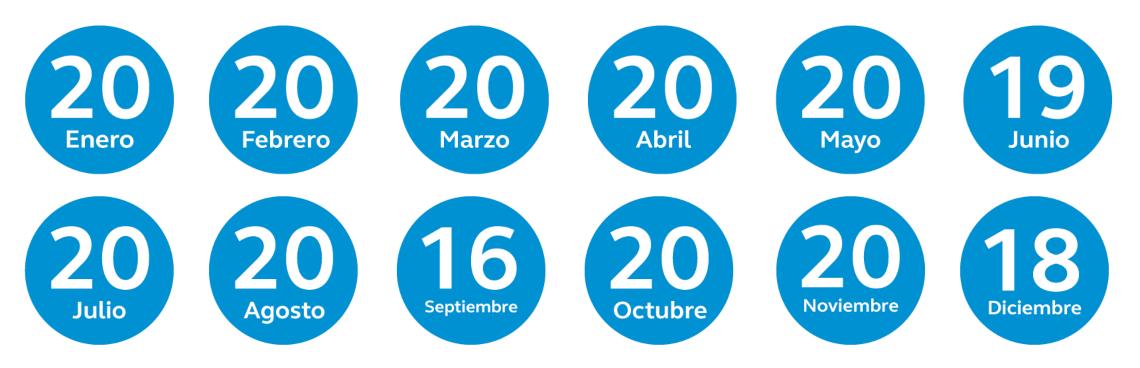 Calendario de pensiones