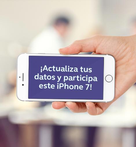 Actualiza tus datos y participa por un iPhone 7