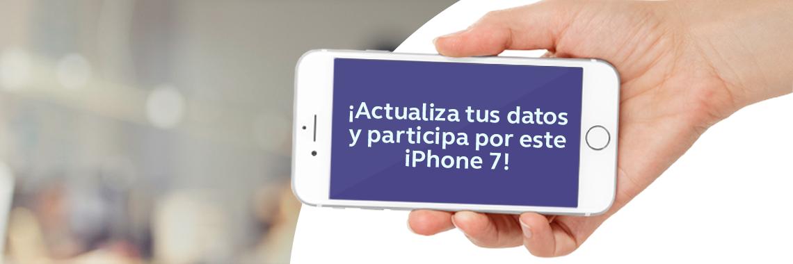 Hasta el 31 de octubre actualiza tus datos y participa por un iPhone 7